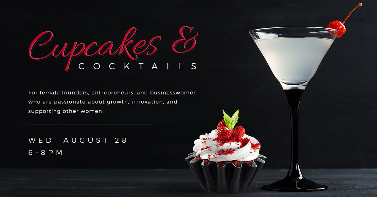 Cupcakes and Cocktails, Wednesday, August 28, 2019 from 6-8pm